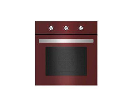 empava 24 tempered glass electric built in single wall oven 2000w 110v red