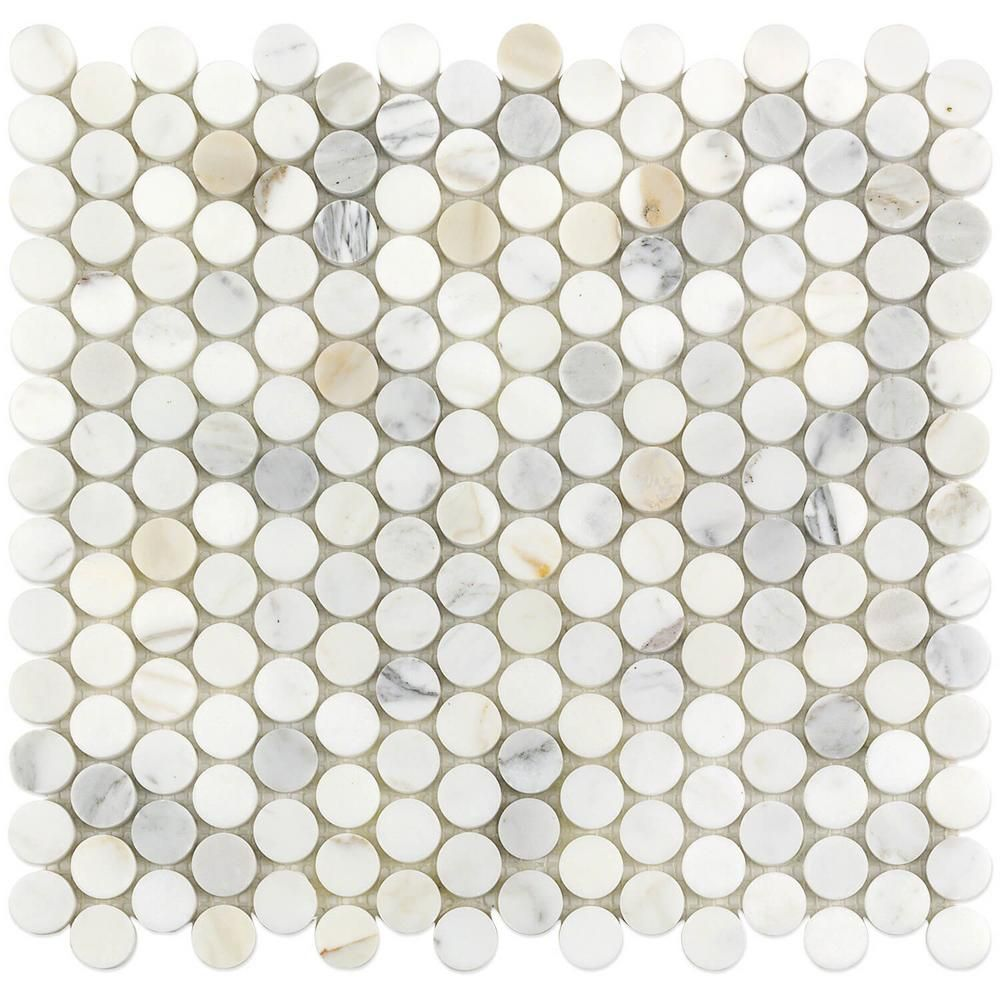 ivy hill tile calacatta penny round 11