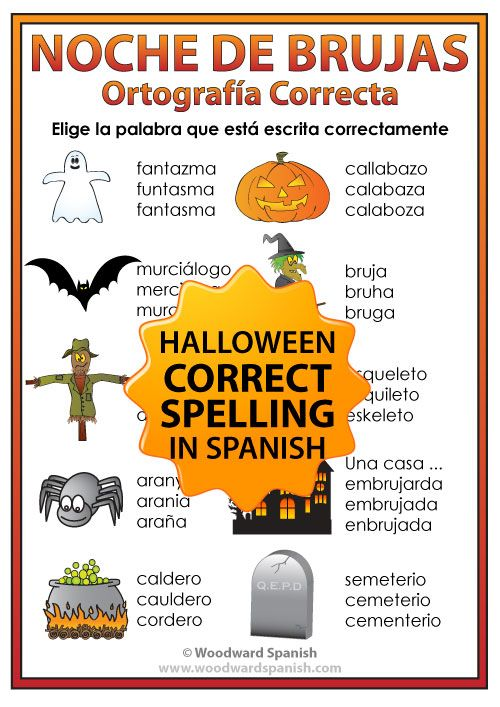 Spelling Activity with Vocabulary associated with Halloween in ...