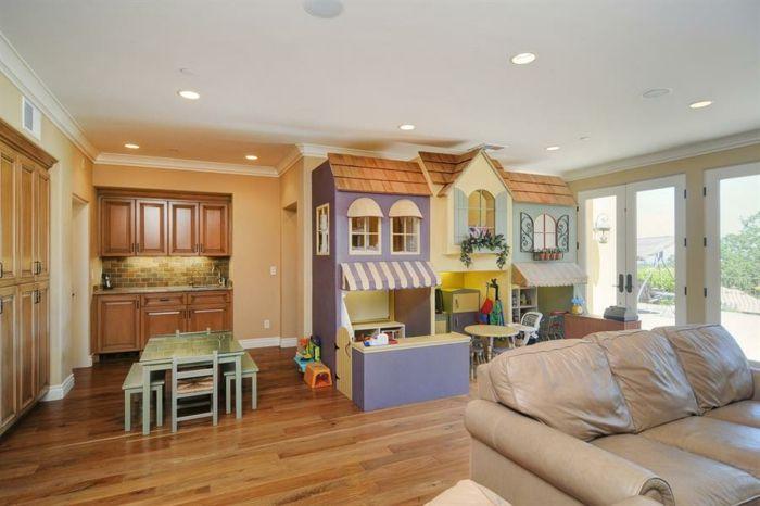 Mini Wohnzimmer ~ Wohnzimmer einrichten kinderzimmer spielecke spielhäuschen