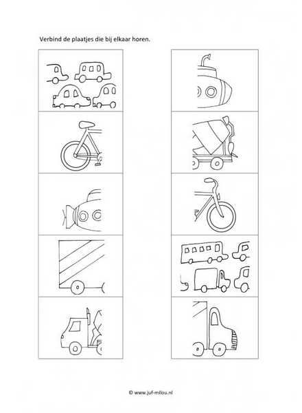 Werkblad verkeer - Helften