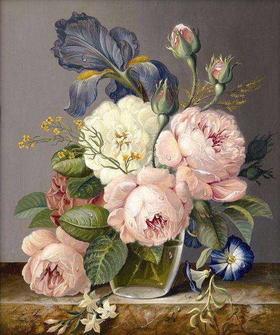 pinturas de jarrones con flores buscar con google