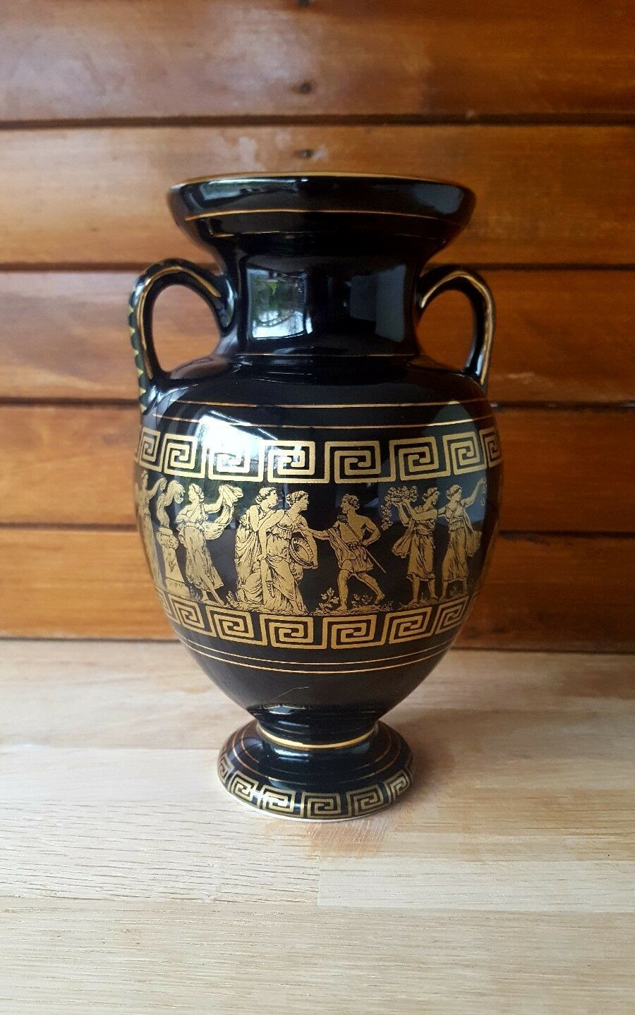 Details About Vintage Sc 24 K Gold Decorated Greek Urn Vase Urn