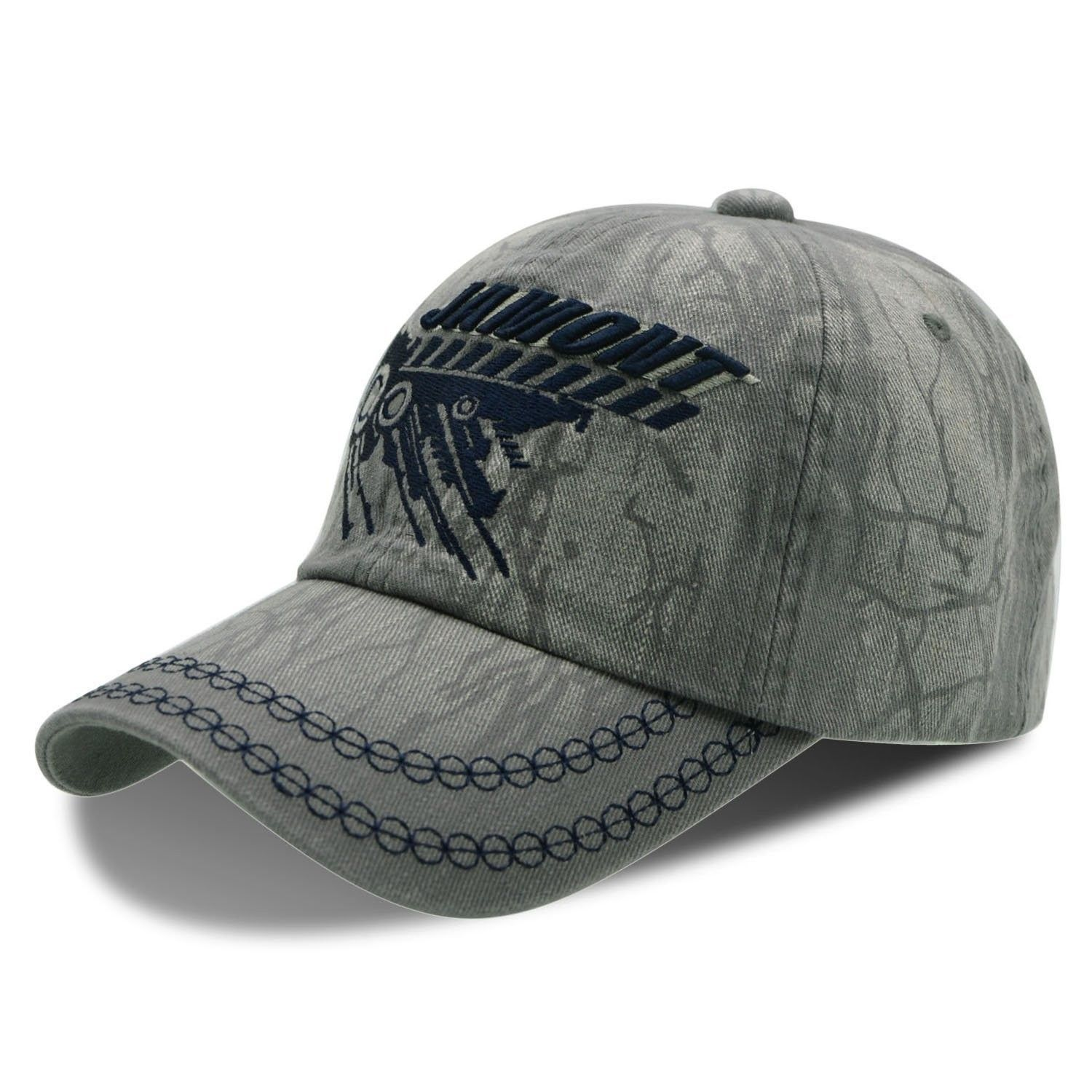 Comfortable Baseball Cap Stylish Dad Hat Texture Pattern With Embroidery  For Men   Women - Grey - C8185EAHMHY - Hats   Caps 775fed44502