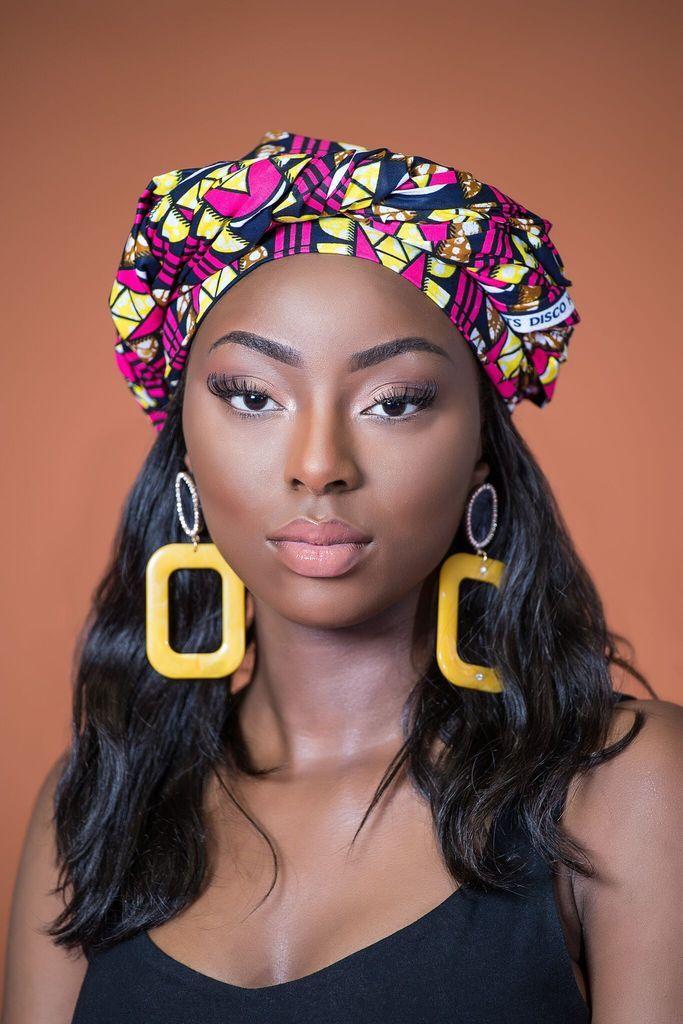 African Print Vejina Headwrap | Grass-fields