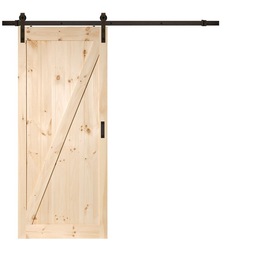 Solid Core Z Frame Soft Close Pine Barn Interior Door Common 36
