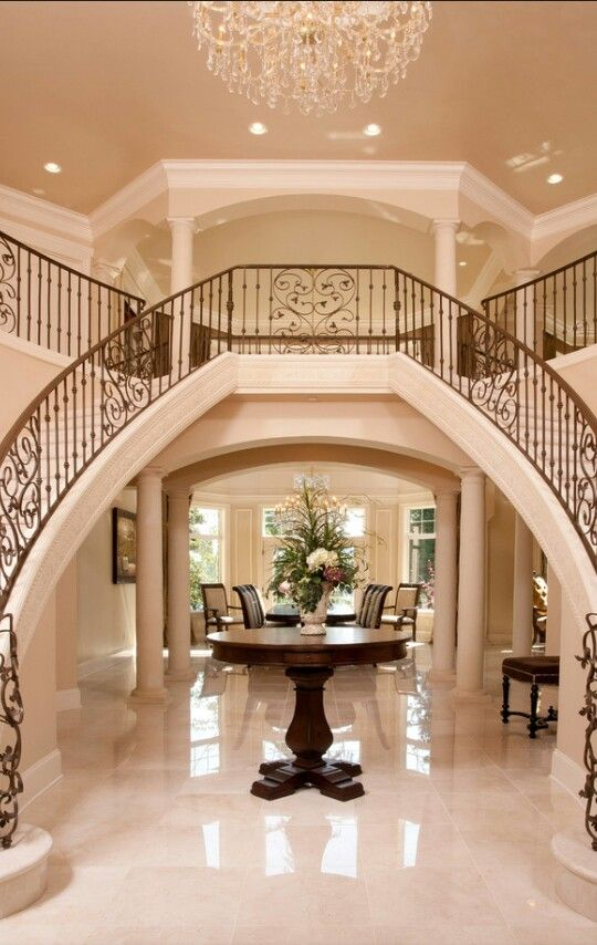 Double staircase | Foyers and Staircases | Pinterest ...