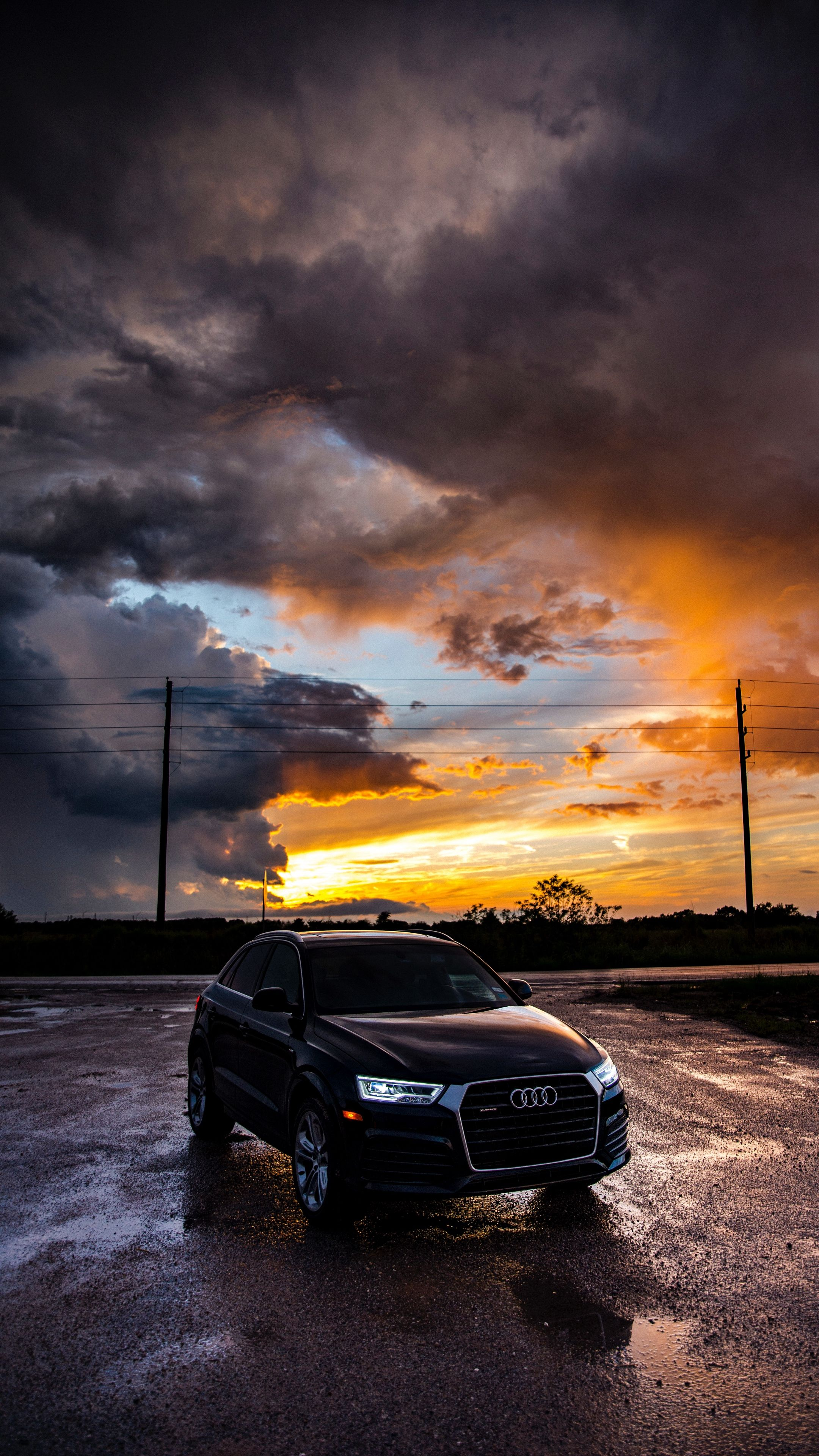Cars Audi Car Sunset Wallpapers Hd 4k Background For Android