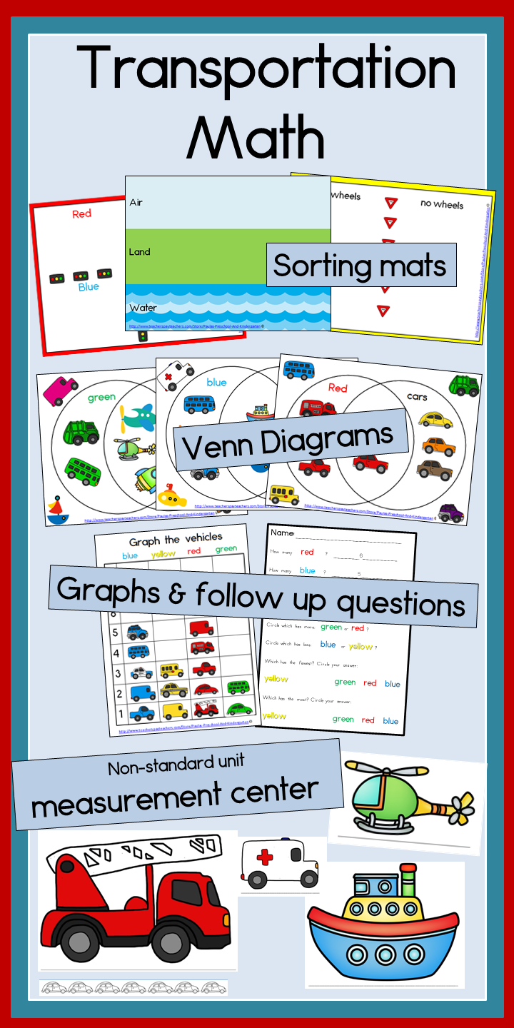 transportation math graphing sorting venn diagrams and