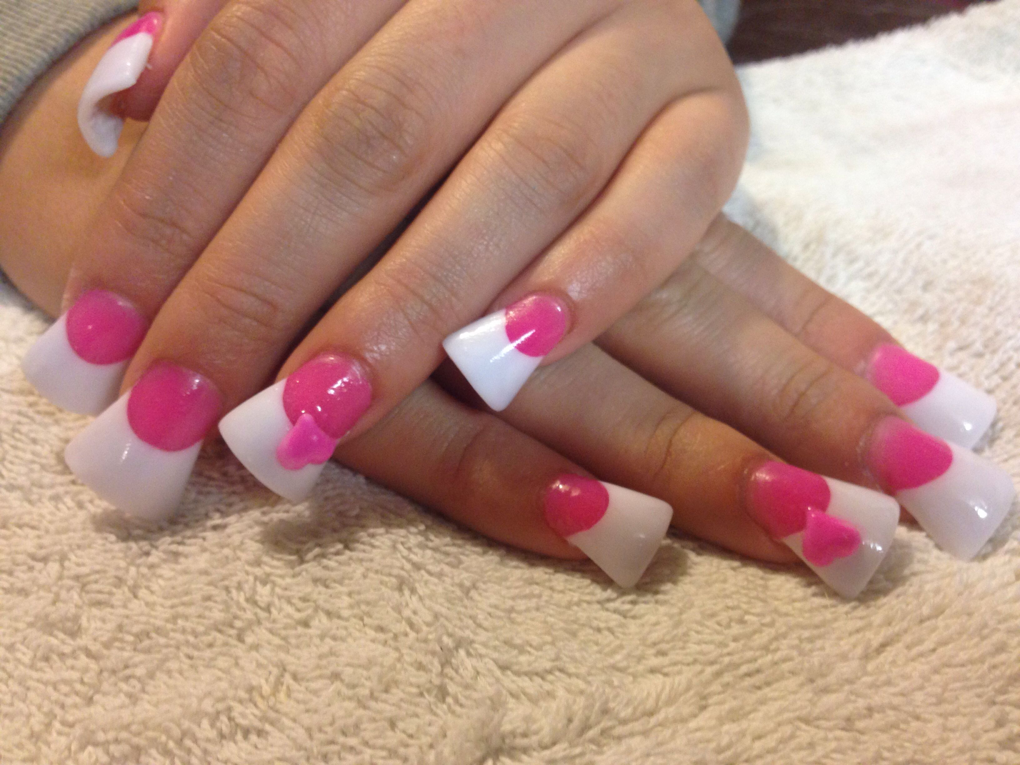 pink and white acrylic nails | nails | pinterest | white acrylic