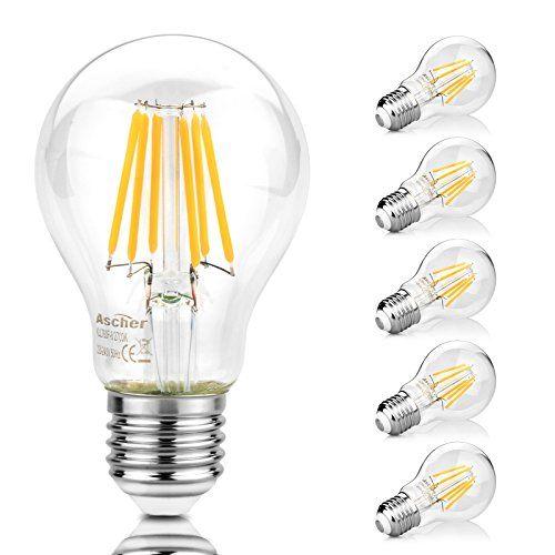 Ascher 5er Pack E27 A19 Led Lampe 75w Entspricht Gluhlam Https