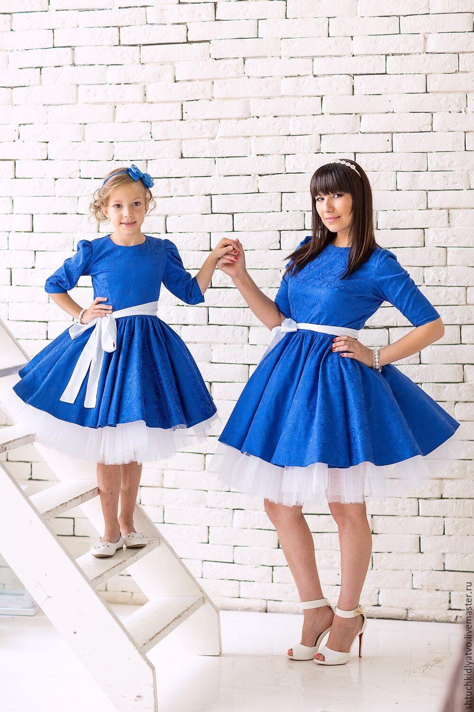 Купить платье голубое нарядное для девочки