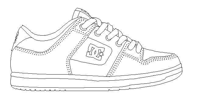 Created Vector Illustrations Of Shoe Templates For Use By Online