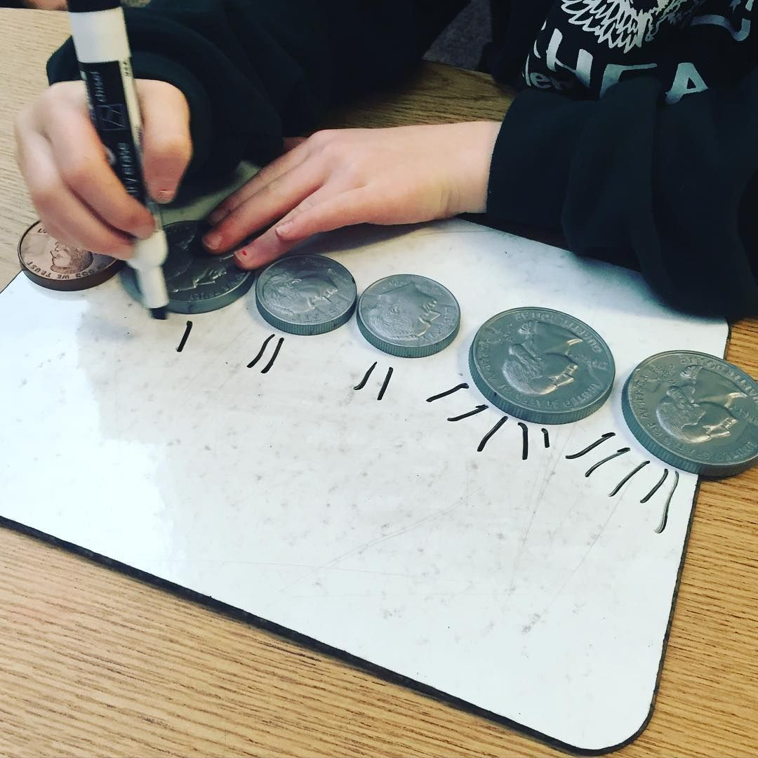 Doing A Quick Counting Coins Assessment At My Table