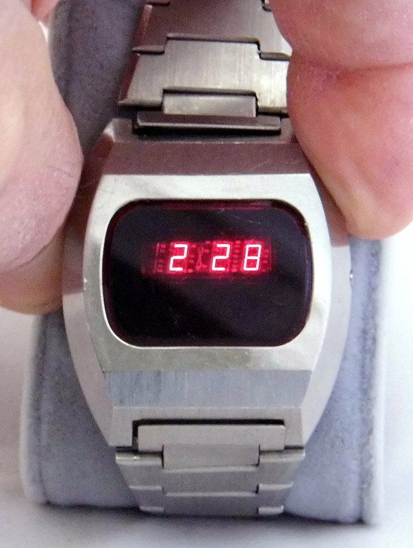 Vintage Frontier E107 Red LED Watch, Made In Japan, Circa 1970s.