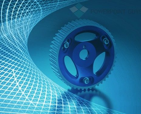 Powerpoint Template With Gearwheels  Technology Powerpoint