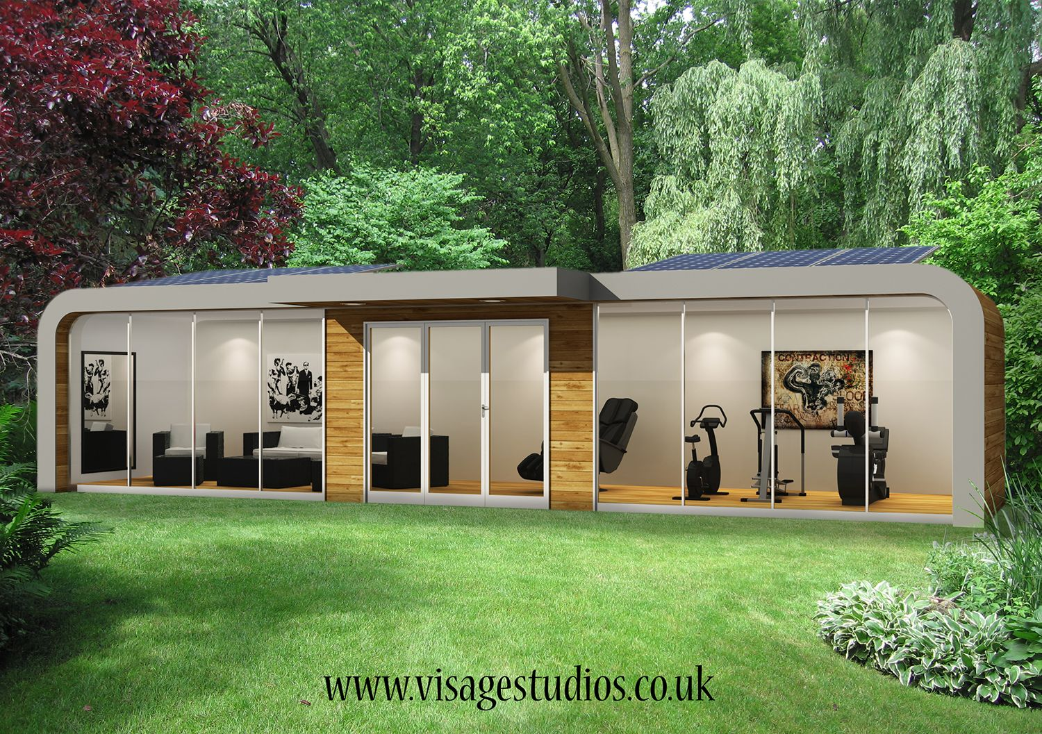garden pod office. An Unusual Project From Visage Studios Of A Garden Pod Used As Office, Gym Office