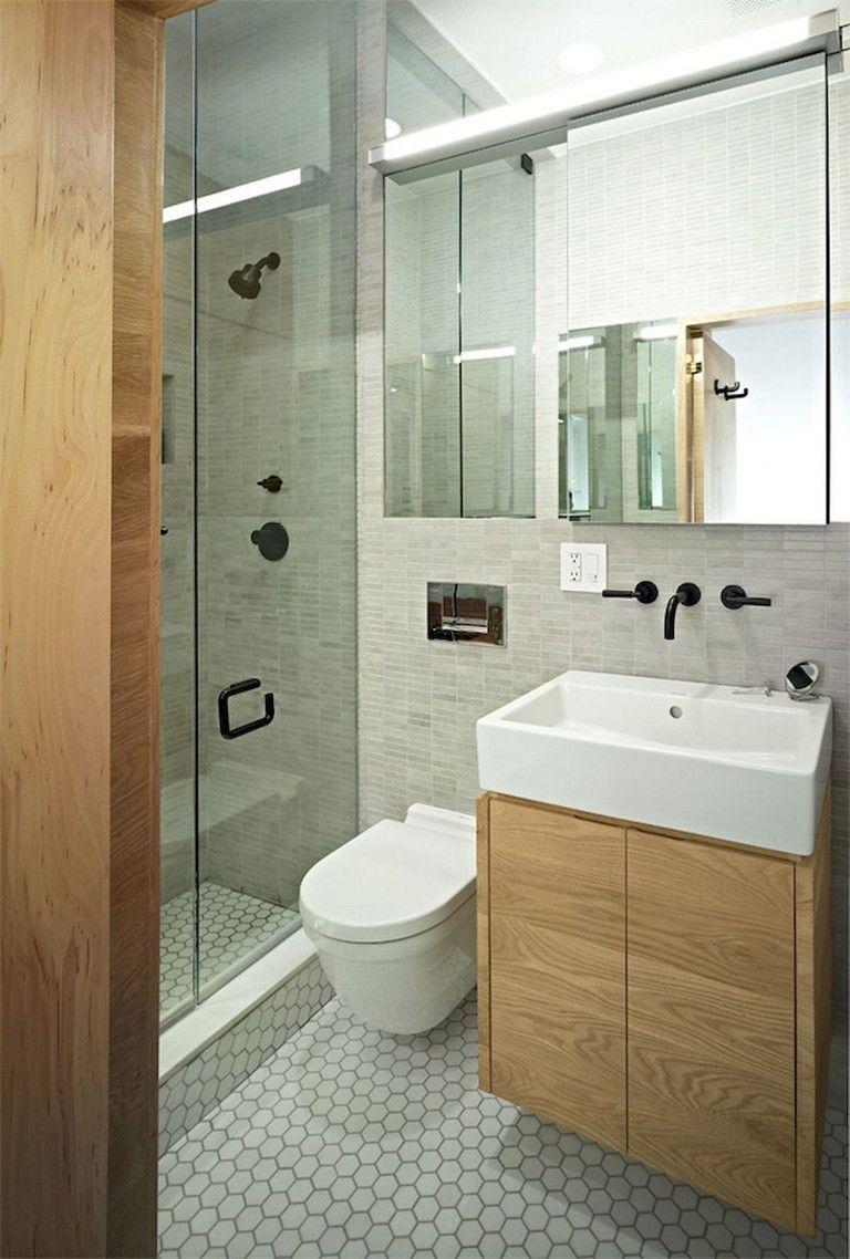 55 Beautiful Small Bathroom Ideas Remodel Small Shower Room Small Bathroom Layout Small Space Bathroom Small bathroom designs for home