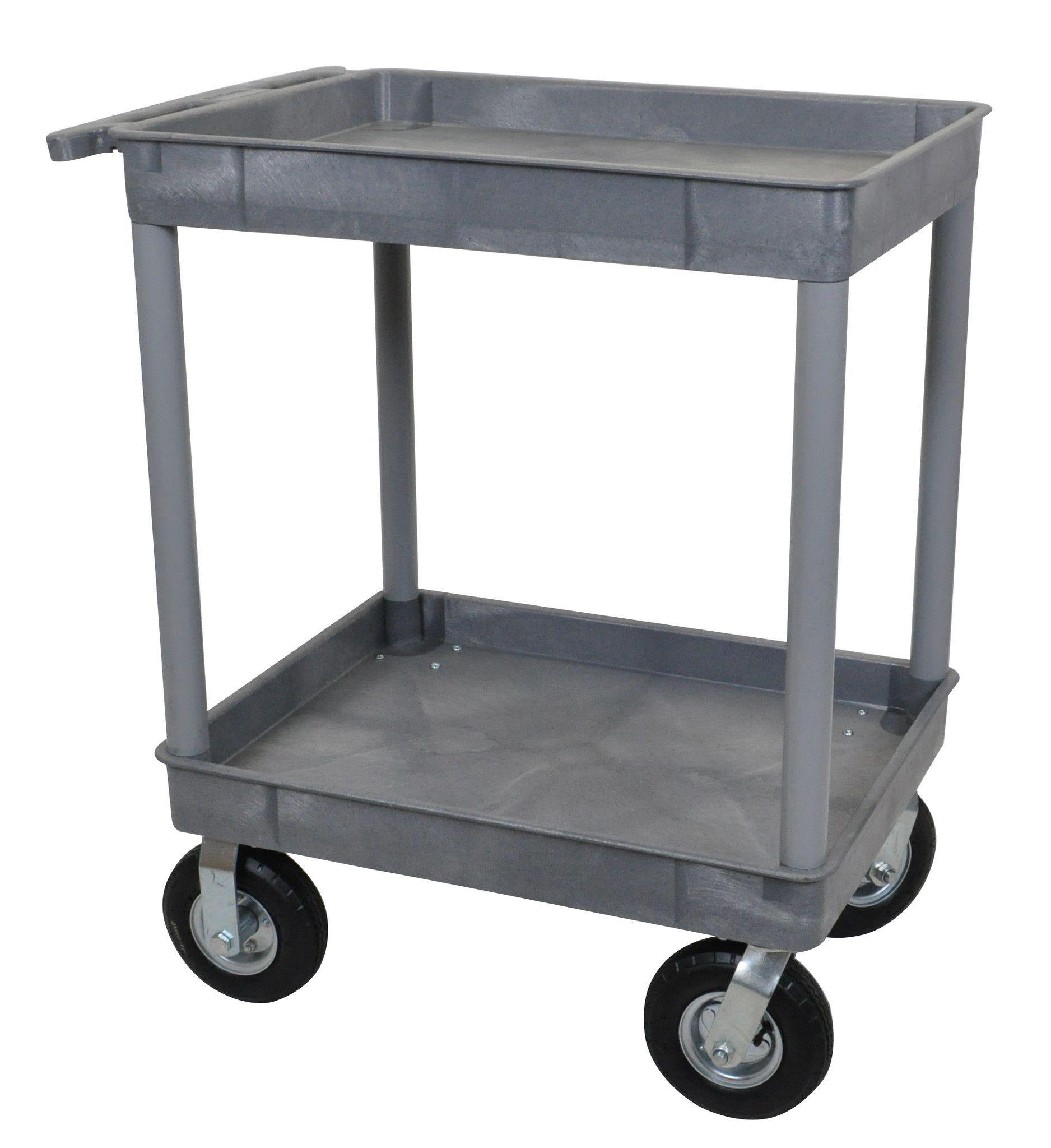 Gray 24x32 2 Tub Cart W/ P8 Casters