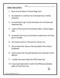 Pin by Marcy Adams on Folder | Capital letters worksheet ...