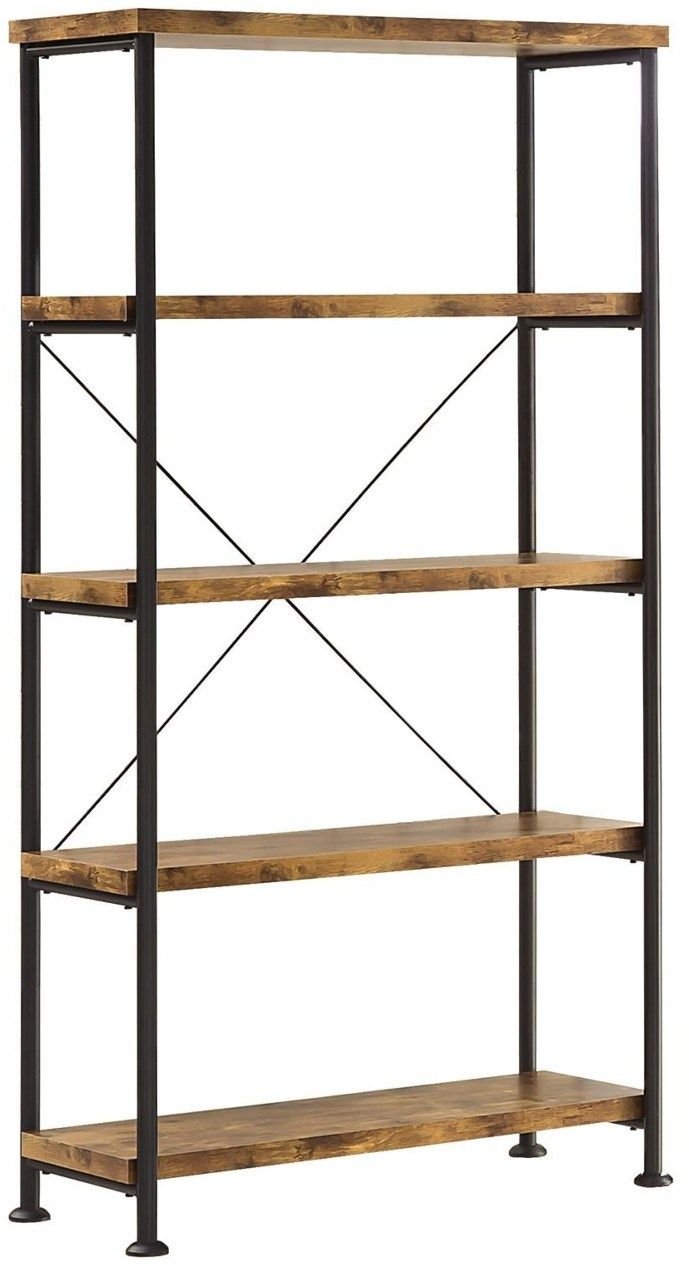 Barritt Wood And Metal Open Bookcase At Michael Alan Furniture