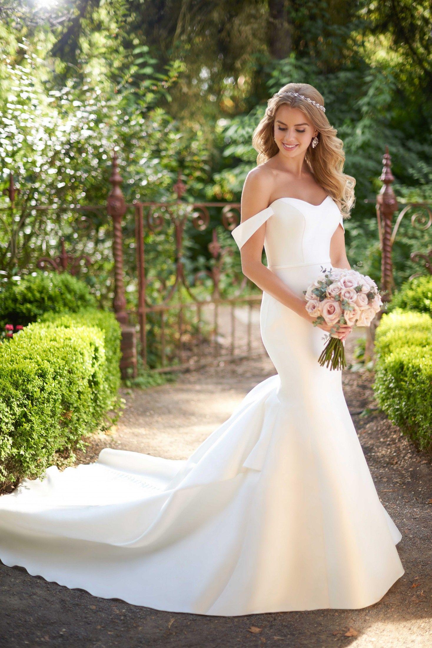 Blush mermaid wedding dress  ad Looking for wedding inspiration Love mermaid style dresses