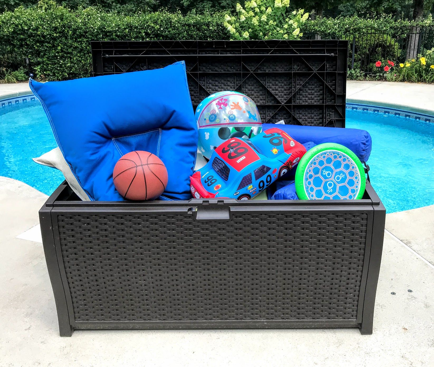 Pool Toy Storage Deck Boxes Float Organizers And More Pool Toy Storage Pool Toys Pool Deck Box