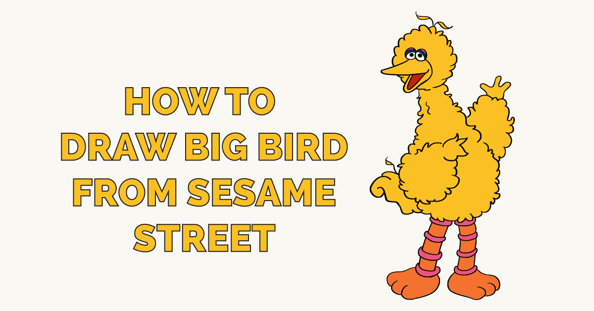 How To Draw A Palm Tree Really Easy Drawing Tutorial Drawing Tutorial Easy Sesame Street Big Bird
