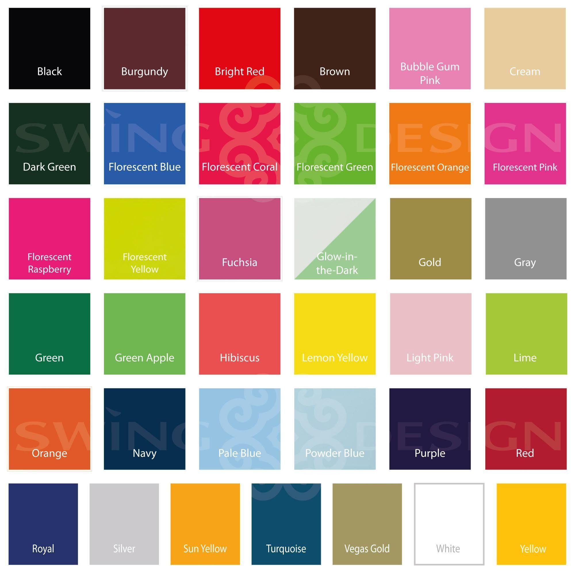 Siser Easyweed Heat Transfer Vinyl Htv 15 X 12 Sheet 48 Colors Available Siser Easyweed Easyweed Swing Design