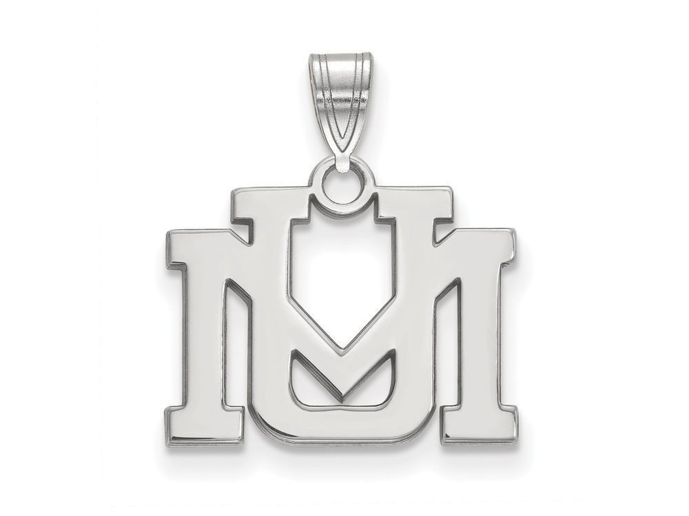 LogoArt Sterling Silver University Of Montana Small Pendant Necklace - Chain Included