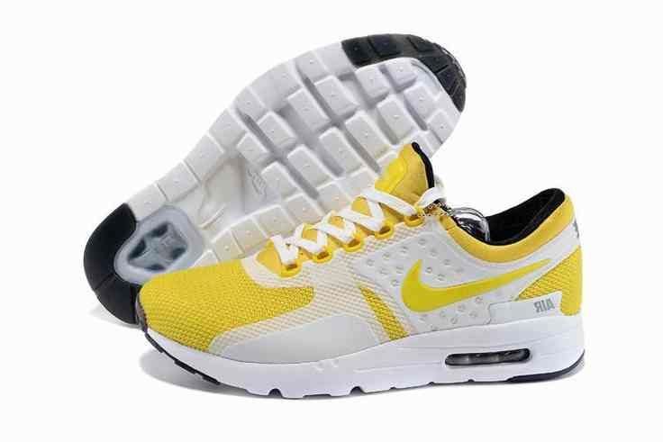 quality design a05d3 8273e 2015 Latest Nike Air Max Zero QS 87 Retro Womens Running Shoes Yellow White…