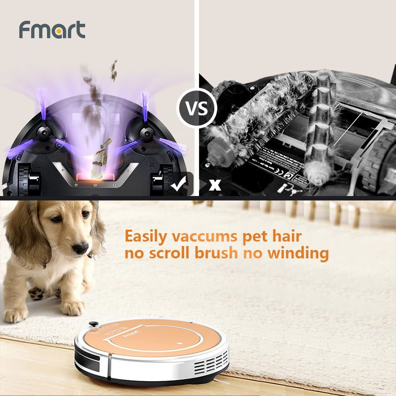 Smart Cleaning Robot Floor Auto Cleaner Vacuum Pet Hair
