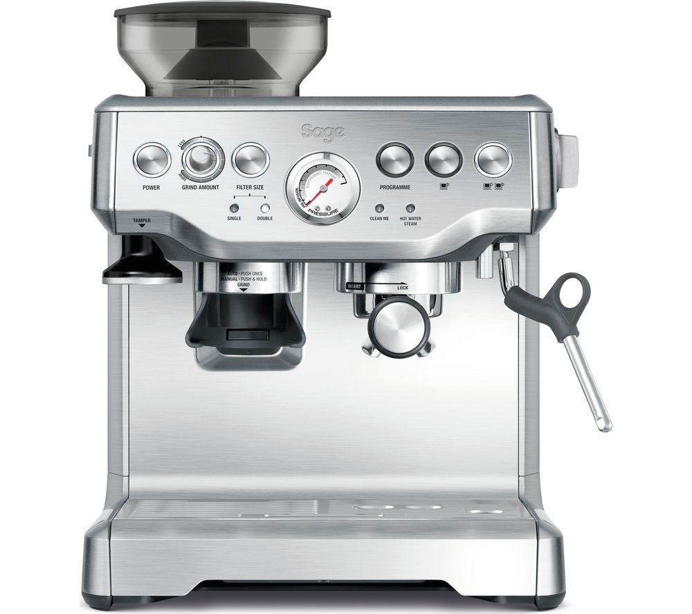 SAGE by Heston Blumenthal Barista Express Bean to Cup Coffee Machine - Brushed Stainless Steel