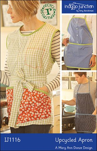 Upcycled Shirt Apron | YouCanMakeThis.com