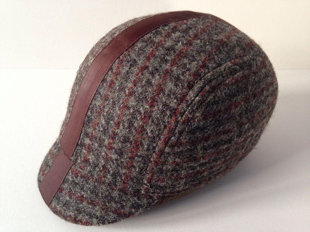 15 Harris tweed Cycling Cap - Tweed wool size ( L ) 58cm-60cm  smithlondon f9166fd33a8