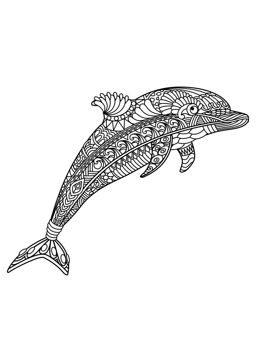Free coloring pages dolphins - Animal Coloring Pages Pdf Animal Coloring Pages Is A Free Adult Coloring Book With 20 Different