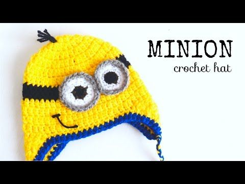 Minion Hat Crochet - ALL SIZES - YouTube TUTORIAL link