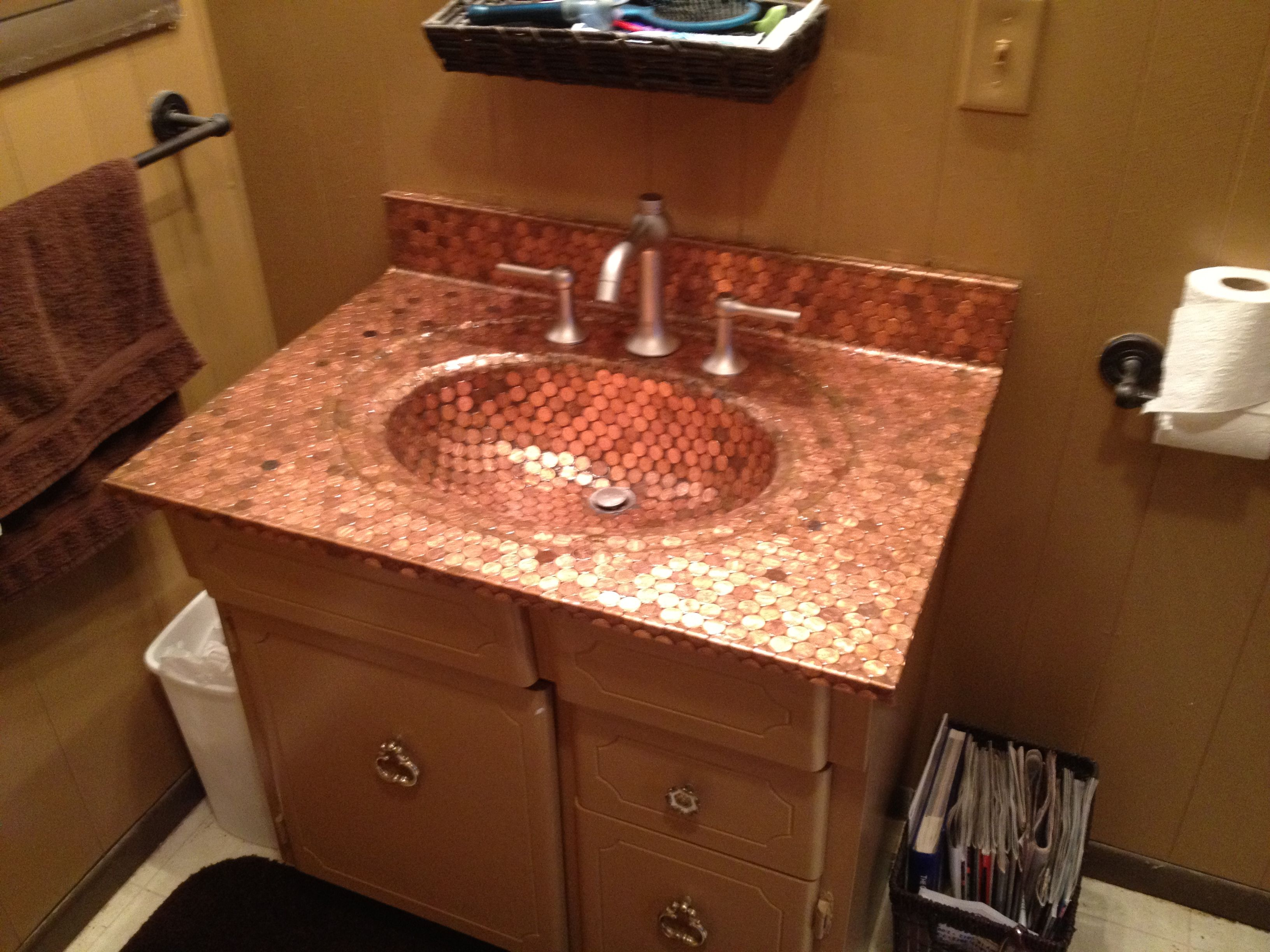 Photo of Copper Penny sink, priceless!
