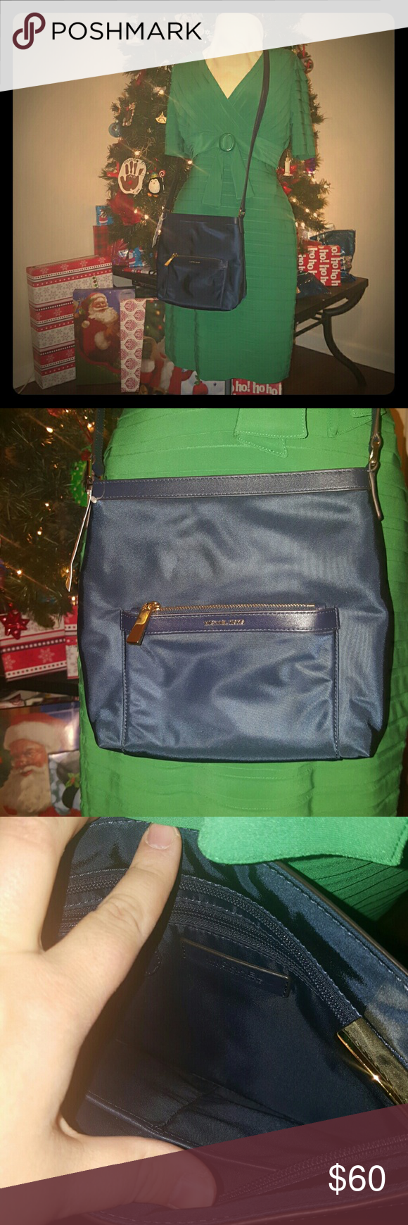 Michael Kors Messenger Bag~Navy Super cute, NWT Michael Kors Messenger Bag. MICHAEL Michael Kors Bags Crossbody Bags