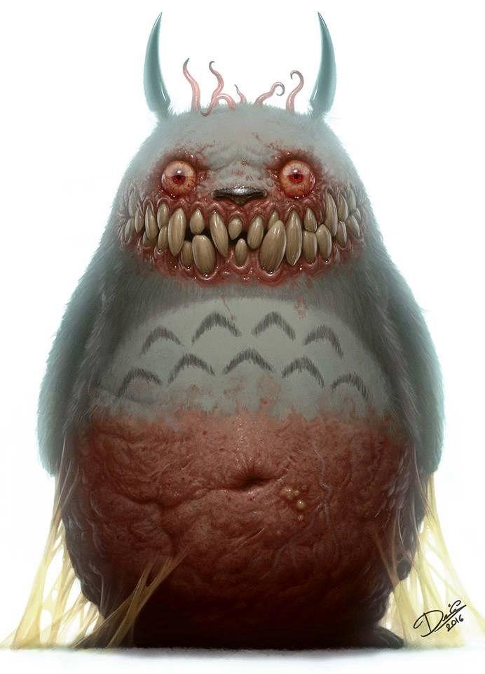 Totoro transformado em monstro