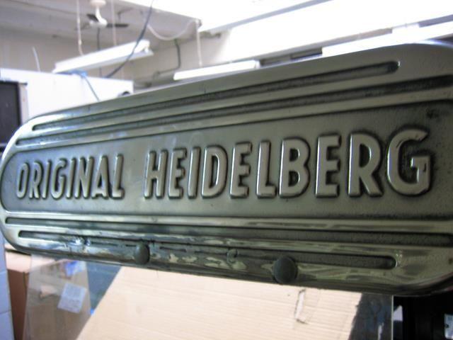 nuestra apreciada maquina de letterpress