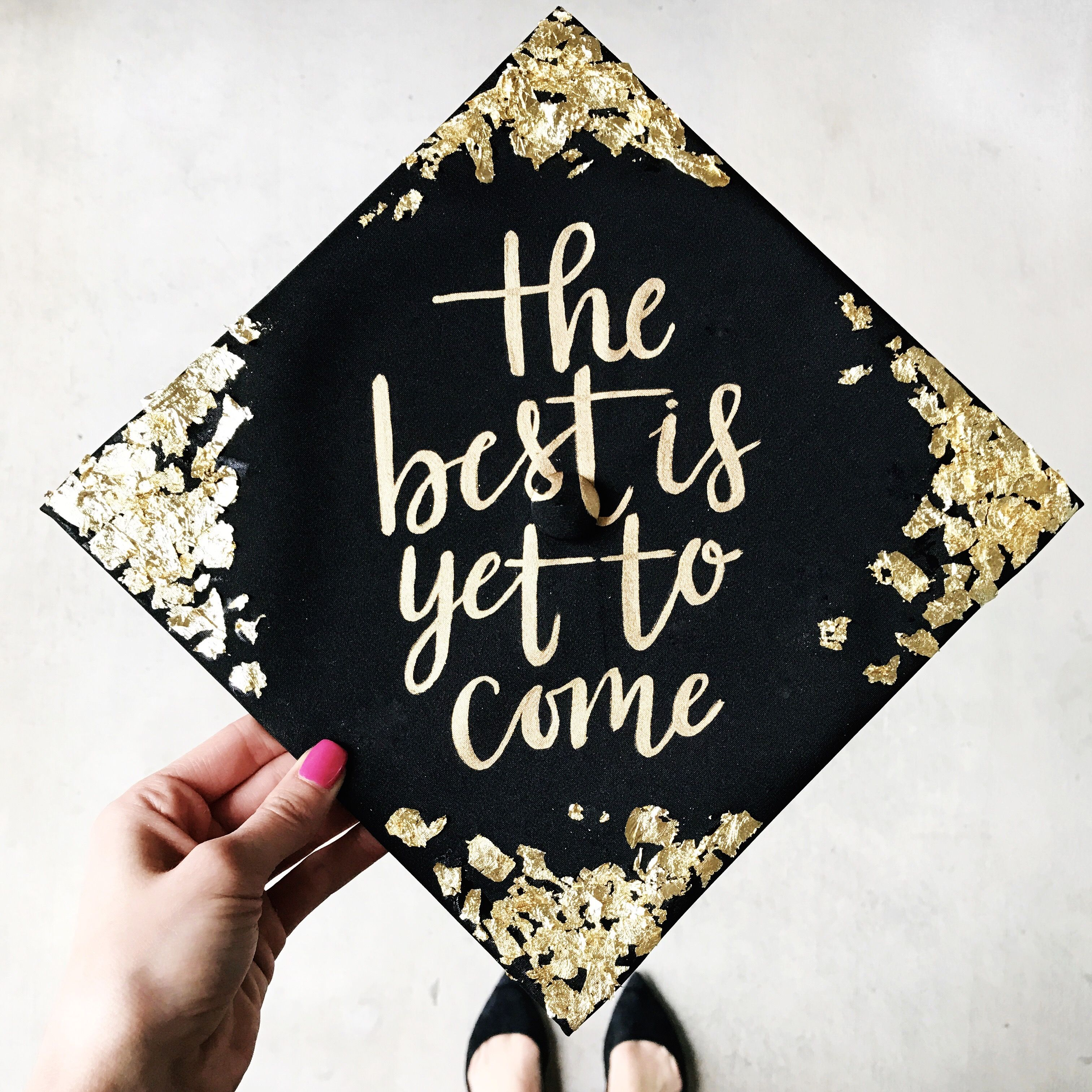 Painted graduation cap by Chera Creative! Instagram