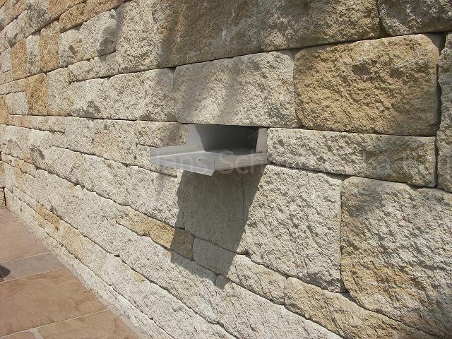 Santuro Betonmauer Mit Wasserauslauf Wasserbecken Garten Galabau Bau