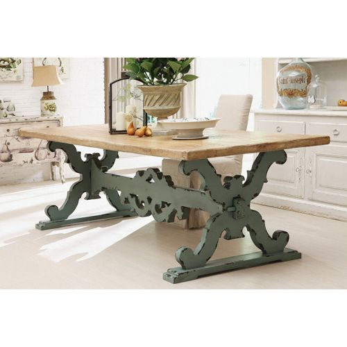 French Trestle Table. Would Be Gorgeous In A French Country Kitchen!