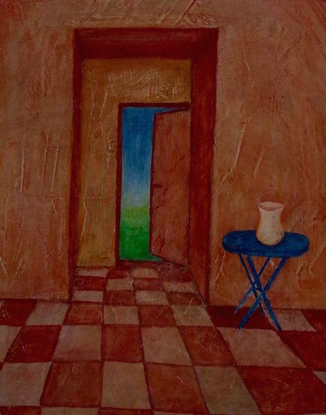 Acrylbild Räume Tür Malen Mit Acryl Acrylmalerei Malen Mit Acryl