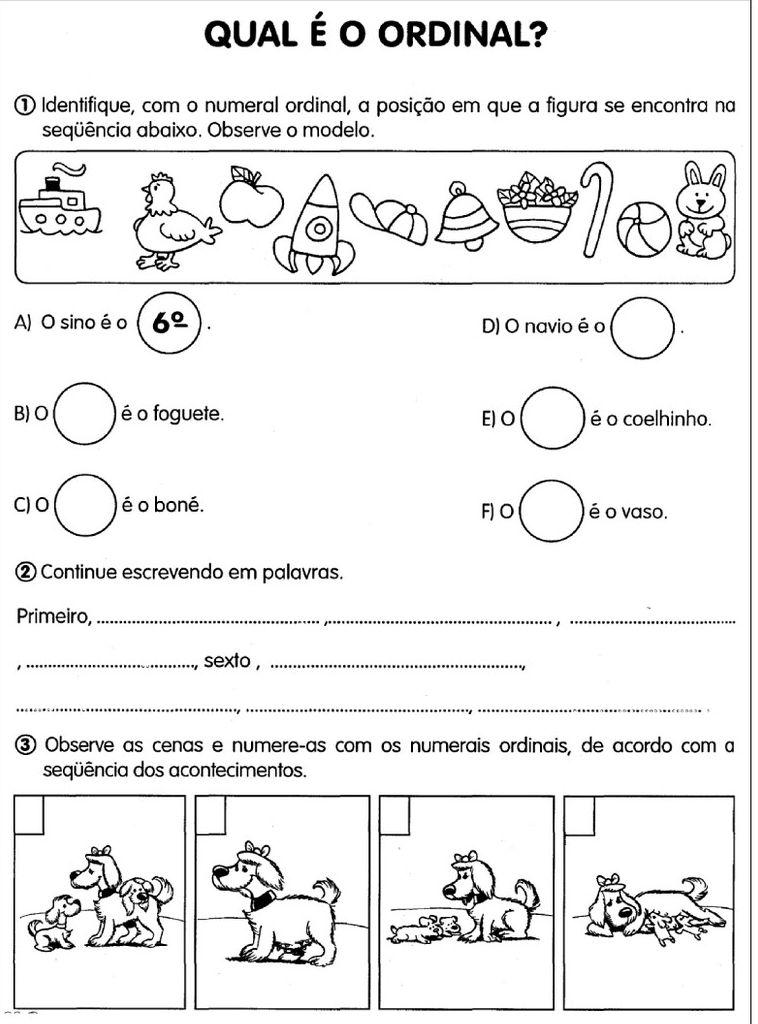 atividade-com-números-ordinais (17) | Bingo | Pinterest | Teaching ...