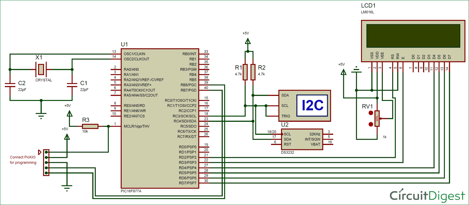 Interfacing Circuit Diagram Of Rtc Module Ds3231 With Pic Micro Wiring As Well Npn Transistor Switch Controller