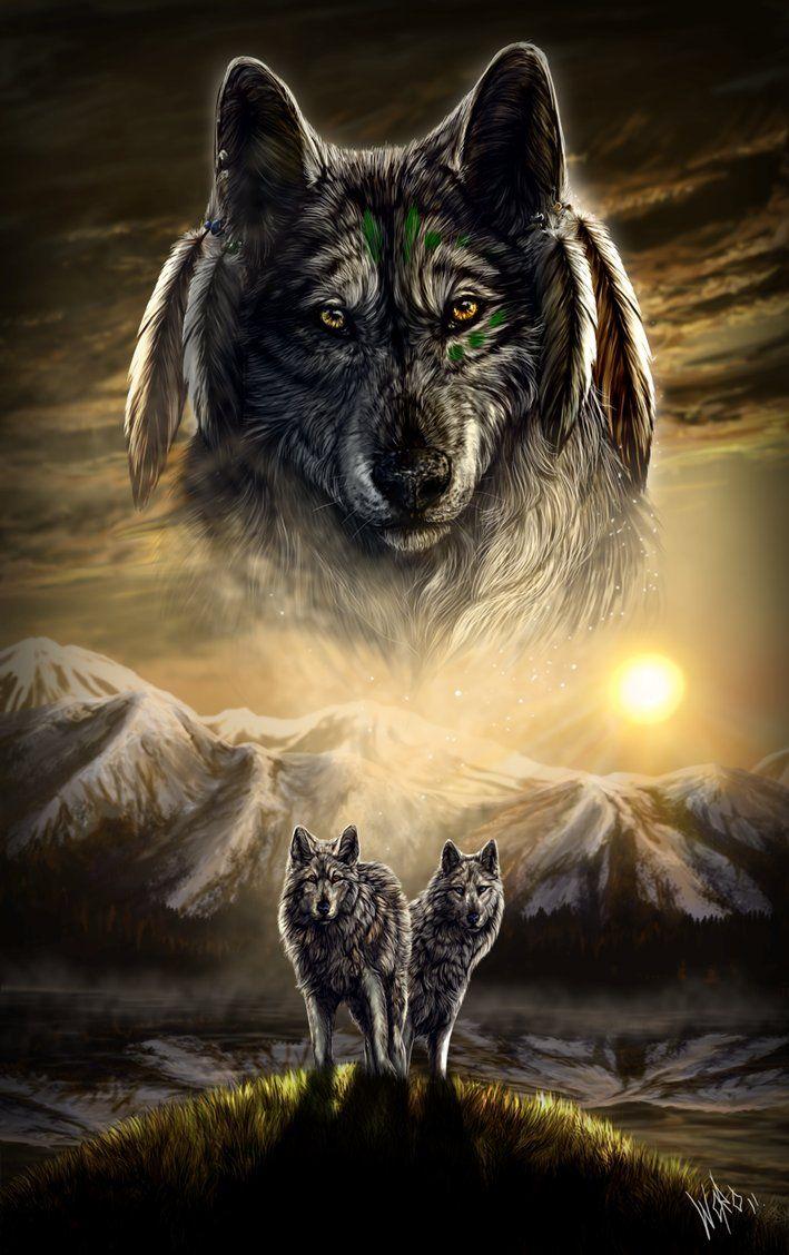 Spirit Wolf Spirit Animal Wolf Love Indian Wolf