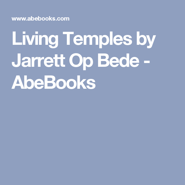 Living Temples by Jarrett Op Bede - AbeBooks