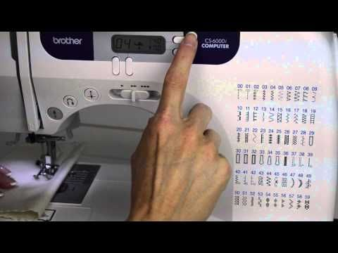 Brother CS 40i 40 Stitch Width Length Needle Position YouTube Cool Brother Sewing Machine 6000i Manual